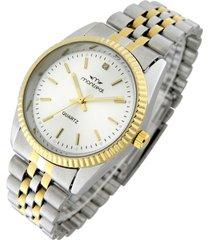 reloj pulsera combinado oro-plata montreal