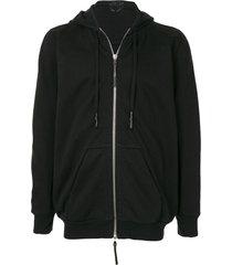 11 by boris bidjan saberi long-sleeve zipped hoodie - black