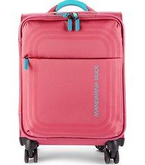 mandarina duck bilbao cabin 12-inch spinner suitcase - ruby