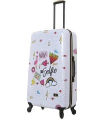 "halina nikki chalinau whalinaatever 28"" hardside spinner luggage"