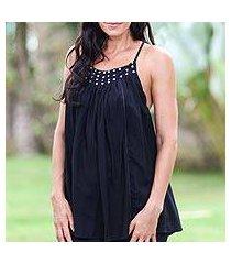 sequined halter top, 'elegance in black' (indonesia)