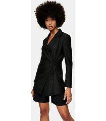 *black wrap suit blazer by topshop boutique - black