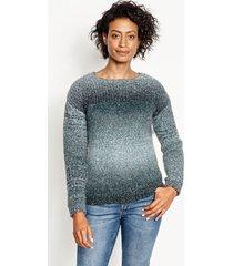 ombre artisan crewneck sweater