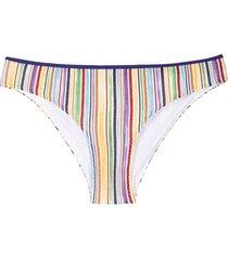 missoni mare signature stripe knit bikini bottoms - blue