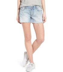 women's dl1961 karlie cutoff denim boyfriend shorts, size 30 - blue