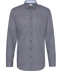 bugatti overhemd donkerblauw dessin