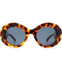balenciaga balenciaga bb0120s havana sunglasses