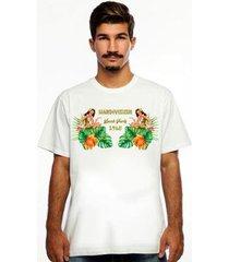 camiseta hardivision beach manga curta masculina - masculino