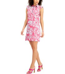 charter club printed ruffled shift dress, created for macy's
