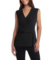 women's sleeveless surplice pullover top