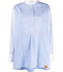 loewe striped cotton tunic shirt - blue