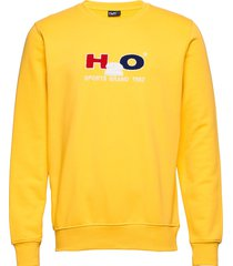 alban sweat o'neck sweat-shirt trui geel h2o