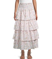 weworewhat women's paloma tiered skirt - evening - size xl