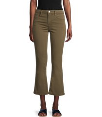 frame women's le crop mini bootcut jeans - washed army - size 25 (2)