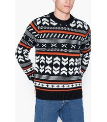 jack & jones jorwinter knit crew neck tröjor svart