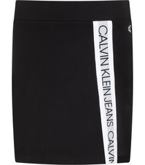 calvin klein black skirt for girl with logos