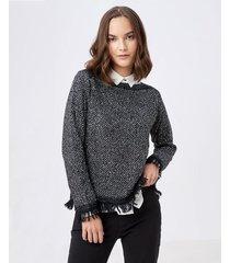 suéter con brillo