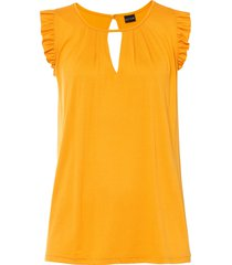 top in jersey (giallo) - bodyflirt