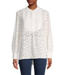 french connection women's asante coupe textured top - summer white - size 12