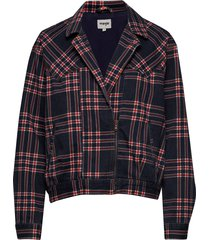 80´s jacket indigo check bomberjacka svart wrangler