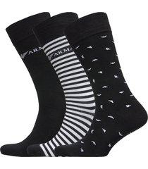 men's knit short soc underwear socks regular socks svart emporio armani