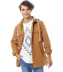 chaqueta gorro marrón corona
