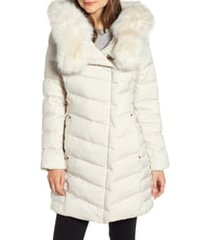 women's bernardo oversized faux fur hood puffer coat