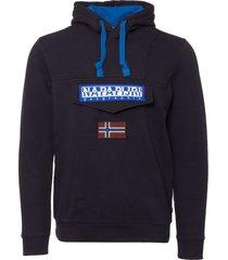 napapijri dark blue burgee hoodie n0yhnh176