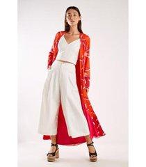 kimono est lily red sacada feminina