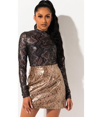 akira warm embrace metallic mini skirt