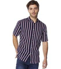 camisa i rayas navy corona