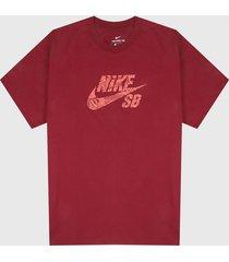 camiseta rojo-coral nike m sb tee