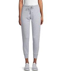 ck jeans women's french terry logo jogging pants - pearl grey - size xl