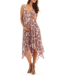 women's everly grey birgit maternity/nursing dress, size x-large - pink