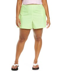 bp. athletic shorts, size 4x in green limecream at nordstrom