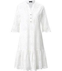 jurk in voile-kwaliteit 100% katoen van basler wit
