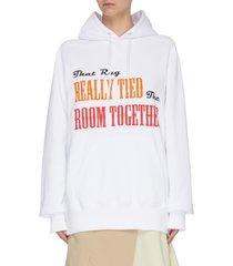 'the rug' slogan print hoodie
