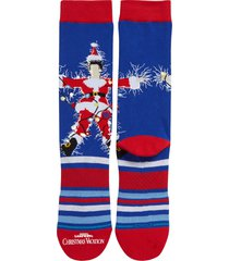 stance christmas vacation crew socks, size large in blu at nordstrom