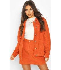 cord longline trucker jacket, rust