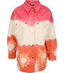 stella mccartney tie-dye denim overshirt jacket