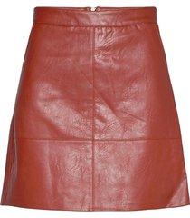 onllisa faux leather skirt cc otw kort kjol röd only