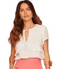blusa garnus camadas off-white