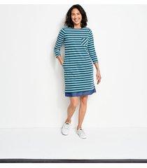 mixed media classic cotton striped dress