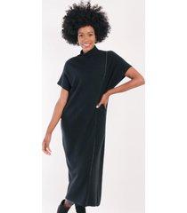 vestido lana valentina negro night concept