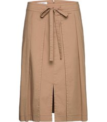 skirt long woven fab knälång kjol beige gerry weber edition