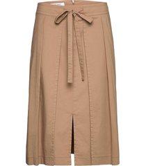skirt long woven fab knälång kjol beige gerry weber edition