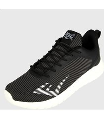 tenis running negro-blanco everlast