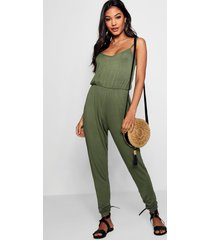 basic cami jumpsuit, khaki