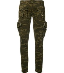 faith connexion military skinny trousers - green