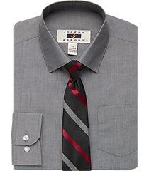 joseph abboud boys heathered gray dress shirt & tie set